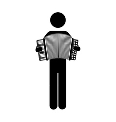 Musician man icon vector