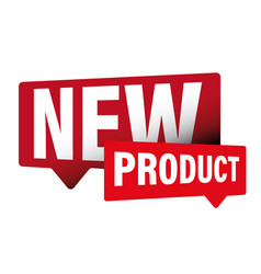 new product label sign vector image