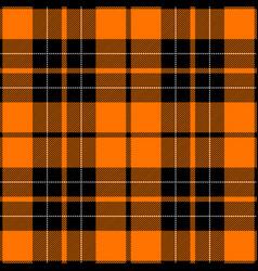 Orange and black tartan plaid scottish pattern vector
