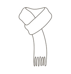 Pink warm wool scarf in ropesscarves and shawls vector