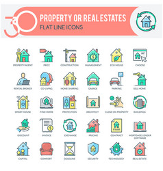 property or real estates icons vector image