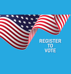 register to vote elections in america vector image