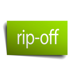 Rip-off square paper sign isolated on white vector