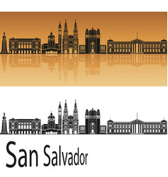 San salvador skyline vector