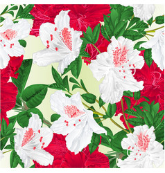 seamless texture flowers red and white vector image