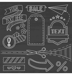 Set of sale ribbons and elements vector image