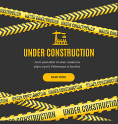 site under construction background card vector image