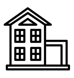 Small two storey house icon outline style vector