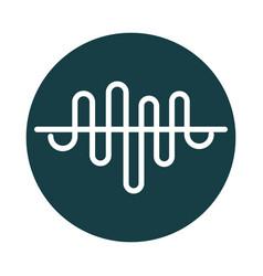 Sound wave audio block style icon vector
