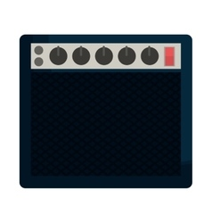 speaker with knobs icon image vector image