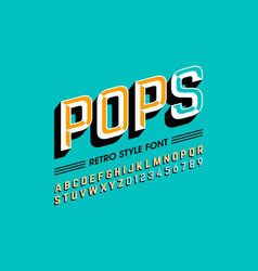 trendy style pop art font alphabet letters and vector image