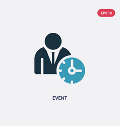 Two color event icon from time management concept vector