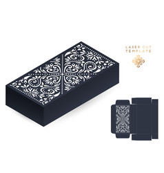 wedding card laser cut template box vector image