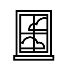window frame glass pane vector image
