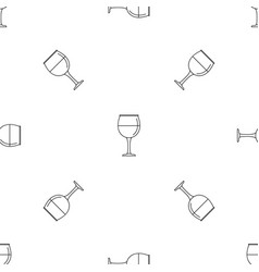 wine glass pattern seamless vector image