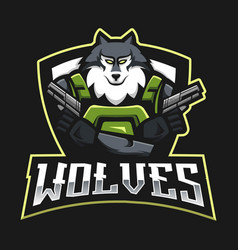 Wolves esport logo vector