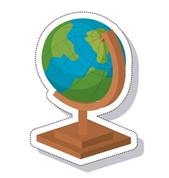 world planet earth isolated icon vector image