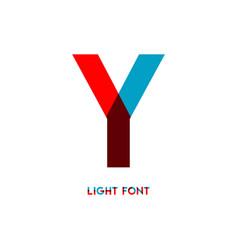 Y light font template design vector