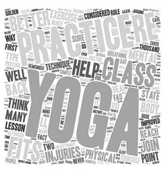 Yoga Your Way to Physical and Mental Fitness text vector