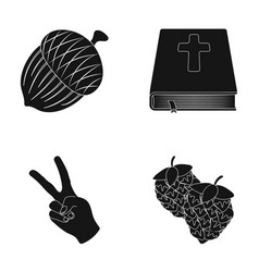 Alcohol religion and other web icon in black vector
