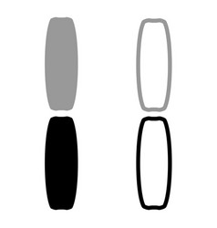 board for kiteboard sport icon set grey black vector image