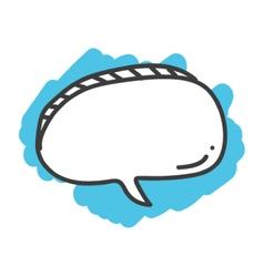 Cartoon doodle speech bubble vector image vector image