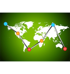 Chart earth vector image vector image