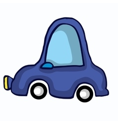 FUnny car style for kids vector image