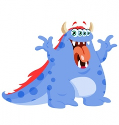 funny monster vector image vector image