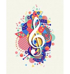 Music note icon g treble clef concept color shape vector image vector image