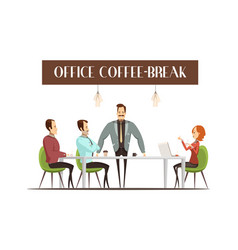 office coffee break vector image