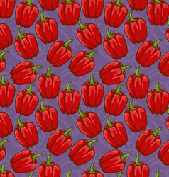 seamless cute shiny bell pepper pattern vector image vector image