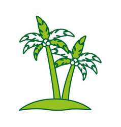 tree palm summer icon vector image vector image