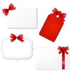 Big Set Blank Gift Tags vector image