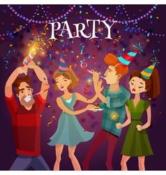 Birthday Party Celebration Festive Background vector image