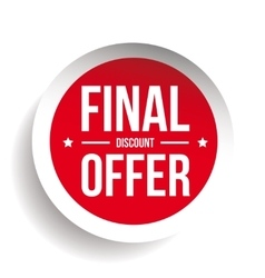 Final Discount Offer Round Label sticker vector image vector image