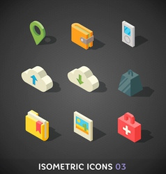 Flat Isometric Icons Set 3 vector image vector image