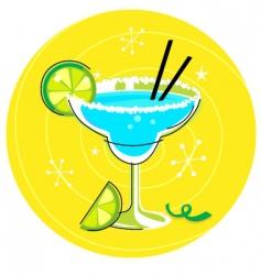 margarita retro cocktail vector image vector image