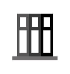 monochromatic set book folder office elements vector image