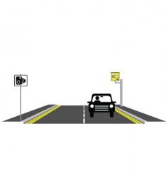 road speed camera vector image vector image