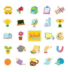 24 school things vector image vector image