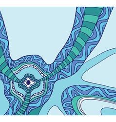 abstract hand-drawn pattern vector image vector image