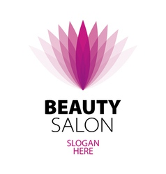 abstract logo beauty salon vector image
