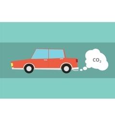 car carbon dioxide co2 pollution vector image vector image