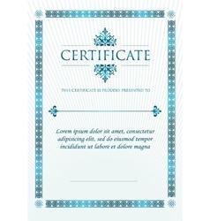 Elegant Classic Certificate of achievement vector image vector image