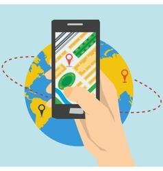 Mobile App Navigation vector image vector image