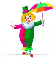 ropewalker clown vector image