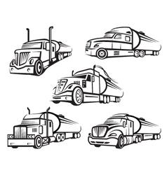 set of tank truck vector image vector image