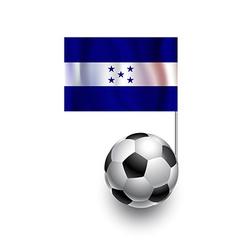 Soccer Balls or Footballs with flag of Honduras vector image