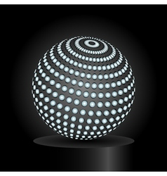 Abstract light sphere vector image vector image